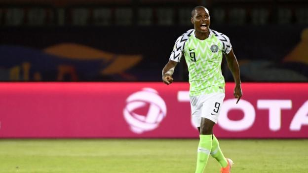 Odion Ighalo in a lot of space