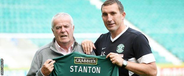 Stanton (left) was joined by Stubbs last year to mark his 70th birthday