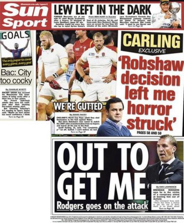The Sun back page