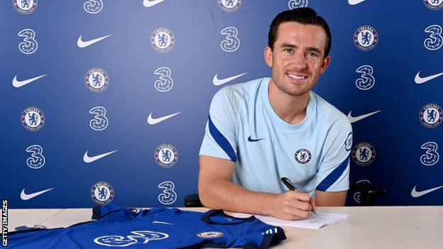 Ben Chilwell after signing for Chelsea