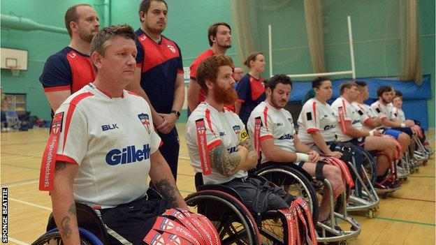 England's wheelchair rugby league side face Wales