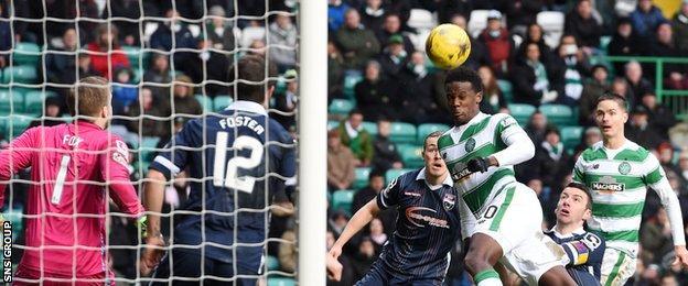 Dedryck Boyata headed Celtic into a 2-0 lead