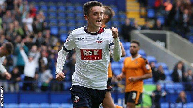 Bolton Wanderers forward Zach Clough