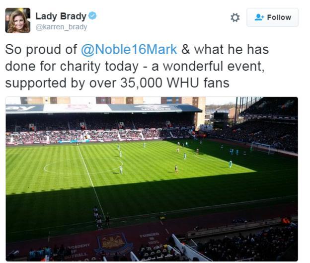 Karren Brady tweet
