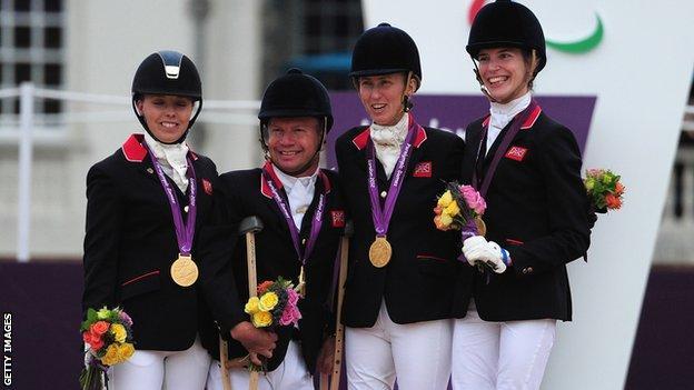 Sophie Wells, Lee Pearson, Deb Criddle & Sophie Christiansen