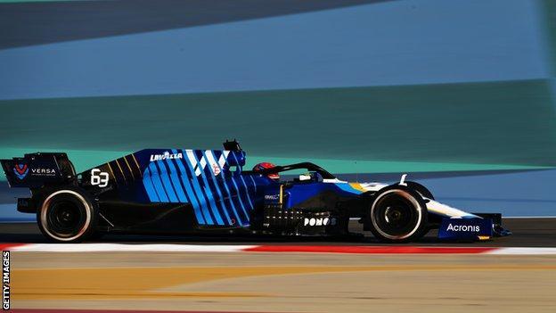 Williams bij F1-testen