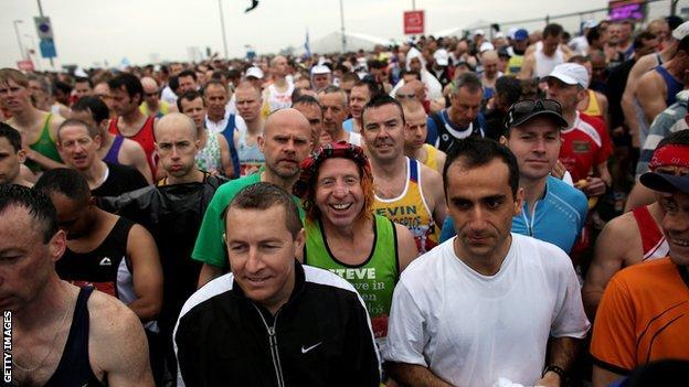 London Marathon start line, 2010