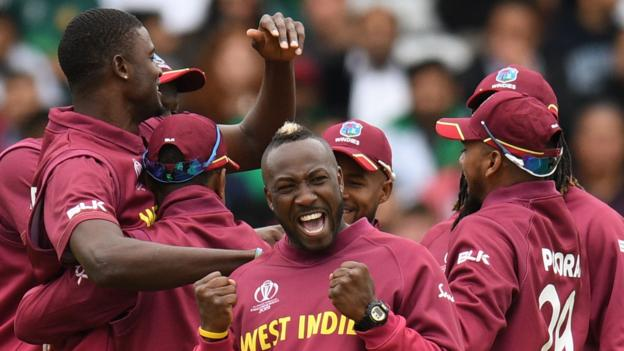 West Indies thrash Pakistan in Cricket World Cup match at Trent Bridge thumbnail