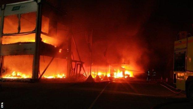Fire at Jerez race