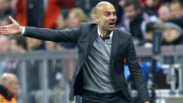 Incoming Man City boss Pep Guardiola
