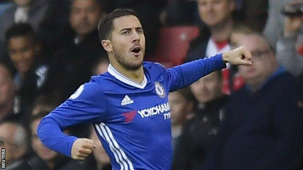 Eden Hazard scored and assisted in the same Premier League game for the first time since April 2015 against Stoke