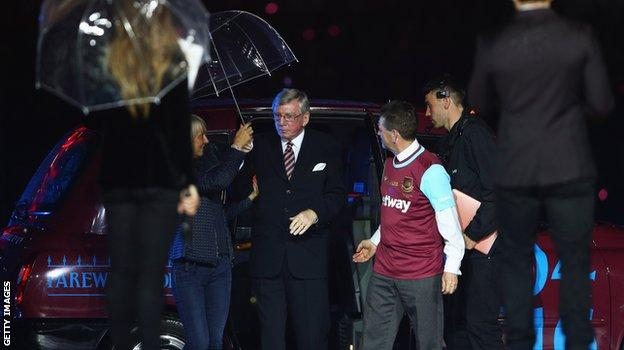 Martin Peters was among the former players at the club's final game at the Boleyn Ground