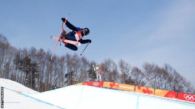 Rowan Cheshire skiing at Pyeongchang Winter Olympics