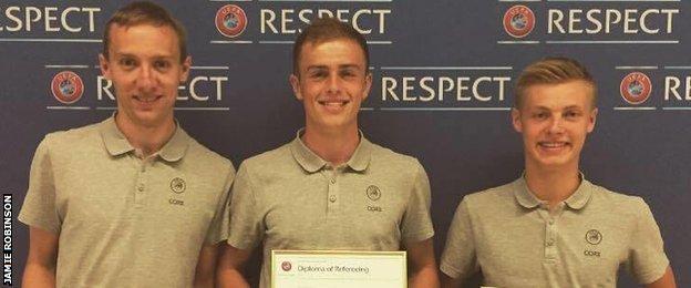 Ryan Kelsey, Jamie Robinson and Andrew Nethery