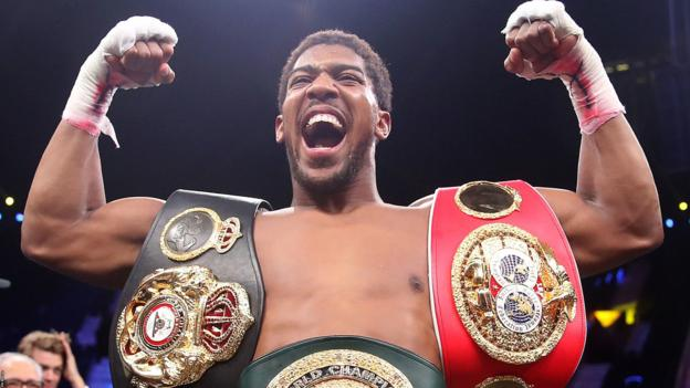 Anthony Joshua: Tyson Fury or Deontay Wilder fight 'has to happen in 2020' thumbnail