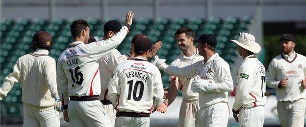 James Anderson finished with 3-85 from 30 overs on his first appearance since July