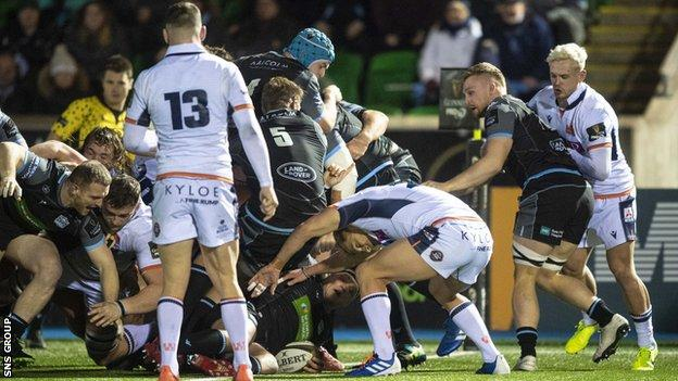 George Turner's late try gave Glasgow a 20-16 win