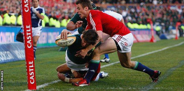 Tommy Bowe embarked on a 2009 Lions tour of South Africa