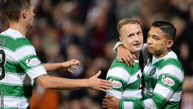 Leigh Griffiths was the star man in Celtic victory at Tynecastle