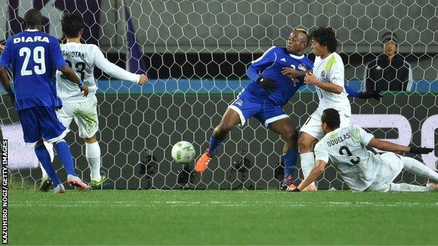 TP Mazembe lose to Sanfrecce Hiroshima