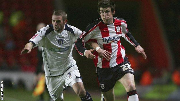 Gareth Bale in action for Saints