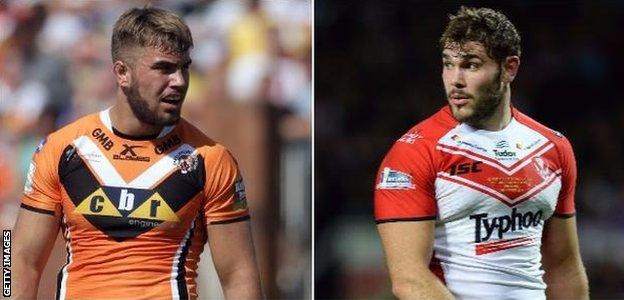 Castleford's other inclusion, Mike McMeeken Alex Walmesley