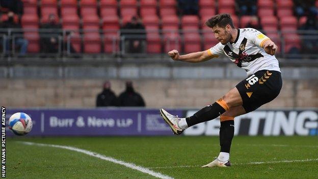 Jamie Proctor's one league goal for Newport came at Leyton Orient in December