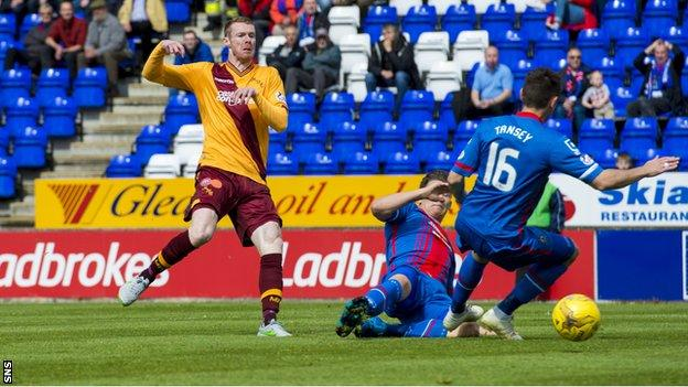 Stephen Pearson in action against Inverness