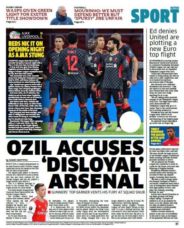 Thursday's back pages - BBC Sport