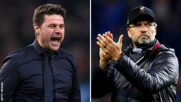 Tottenham manager Mauricio Pochettino and Liverpool boss Jurgen Klopp