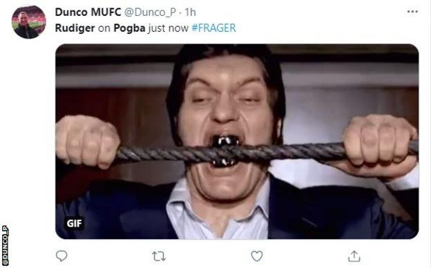 Twitter reacts to the Antonio Rudiger & Paul Pogba incident