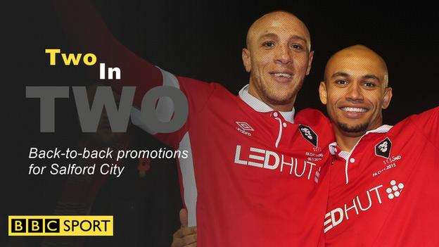 Salford City have achieved two promotions in the last two years