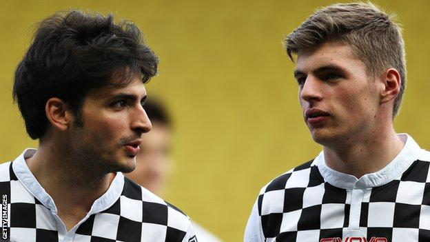 Max Verstappen and Carlos Sainz