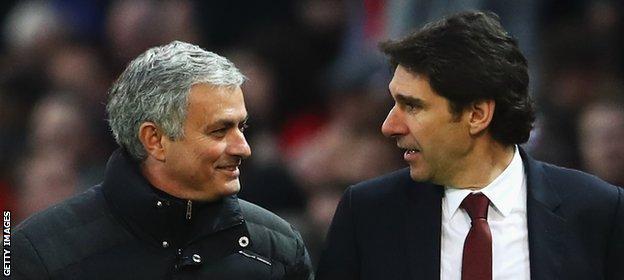 Jose Mourinho (left) and Aitor Karanka