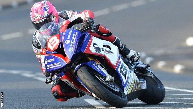 Lee Johnston was Man of the Meeting at the Ulster Grand Prix in 2015