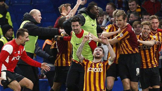 Bradford City beat Chelsea in the 2015 FA Cup