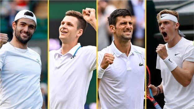 Matteo Berrettini, Hubert Hurkacz, Novak Djokovic and Denis Shapovalov