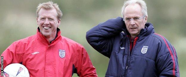 Steve McClaren and Sven-Goran Eriksson