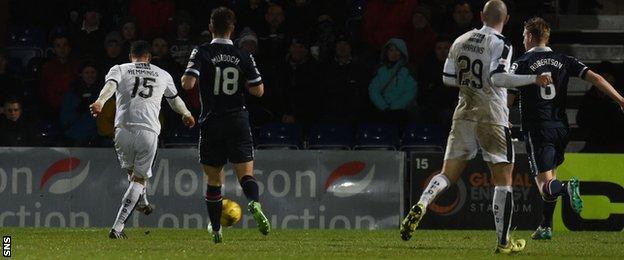 Kane Hemmings scores for Dundee
