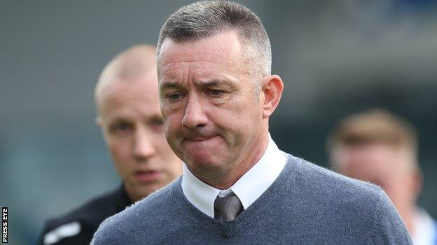 Eddie Patterson won the Irish Cup as Glentoran manager in 2013 and 2015