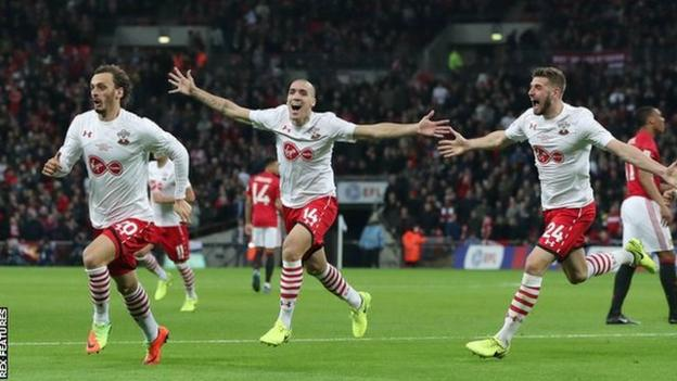 Manolo Gabbiadini has scored five times in three appearances for Southampton since joining the club