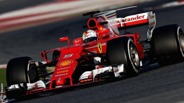 Sebastian Vettel's Ferrari, which ran reliably