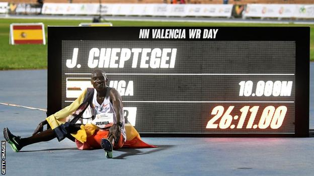 Joshua Cheptegei smashes 10,000m world record as Letesenbet Gidey sets new  women's 5,000m best - BBC Sport