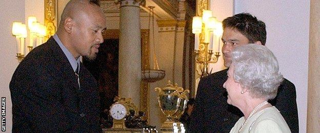 Jonah Lomu and the Queen
