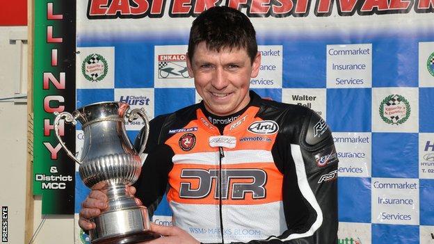 Dan Kneen was the winner of the Enkalon Trophy held over two legs