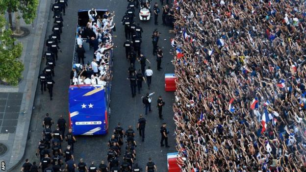 France victory parade