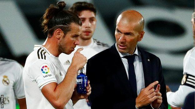 Gareth Bale and Real boss Zinedine Zidane