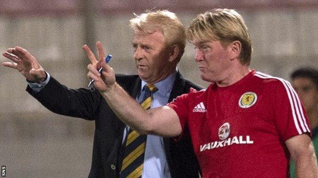 Scotland head coach Gordon Strachan and Stuart McCall