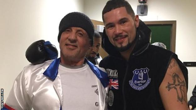 Bellew says Sylvester Stallone guided him throughout the filming of Creed