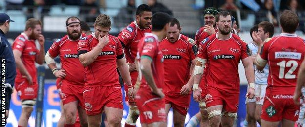 Scarlets players
